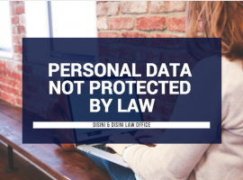 Personal Data NOT Protected by Law