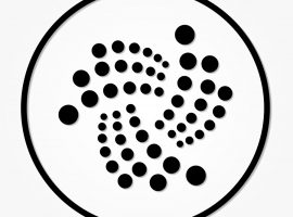 IOTA coin cryptocurrency. Vector sign icon. Internet money